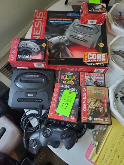 2 Sega Genesis Consoles, Games, and Controllers