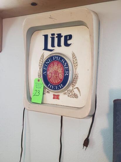 Miller Lite Lighted A Fine Pilsner Beer Lighted Sign