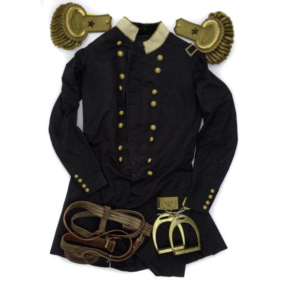 Massachusetts Brig. Genl. Officer's Frock Coat, Model 1851 Officer's Hat by Benton & Bush, Boston