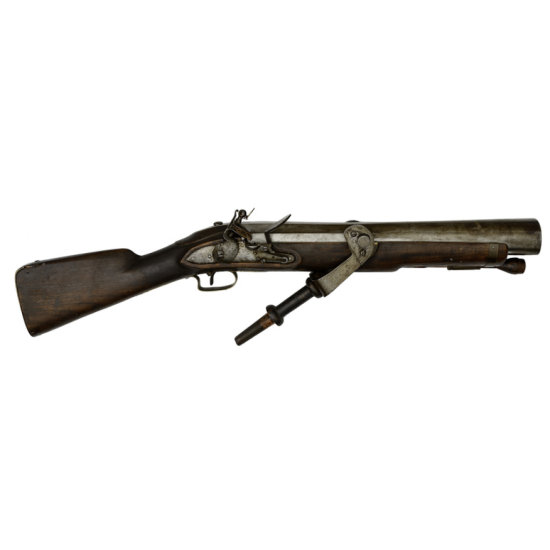 British Flintlock Elliptical Bore Swivel Gun