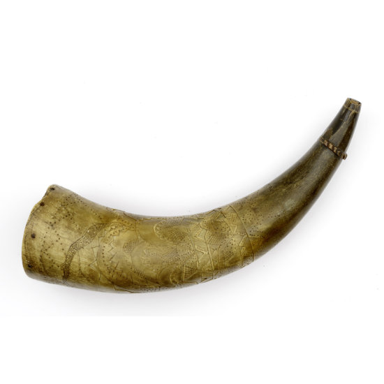 Carved Powder Horn From The Jim Richie Collection