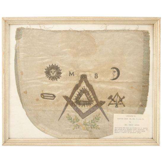 Masonic Apron Related to Napoleonic Wars