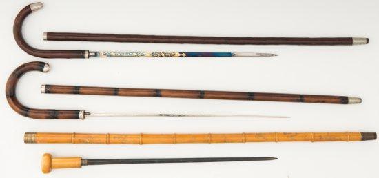 Lot of Sword Canes