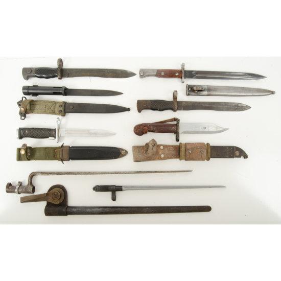 Lot of Eight Bayonets