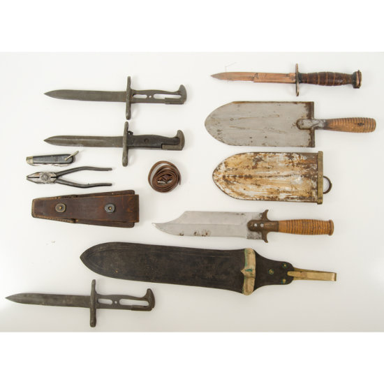 Lot of Seven Edged Weapons