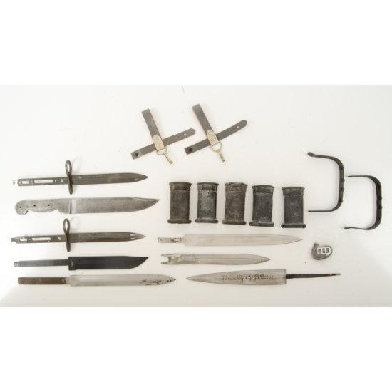 Lot of Knife and Bayonet Blades