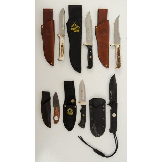 Lot of Six Puma Knives