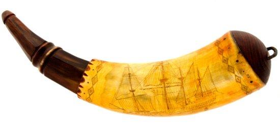 Contemporary Engraved Powder Horn