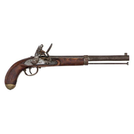 Massive Belgian Flintlock Pistol