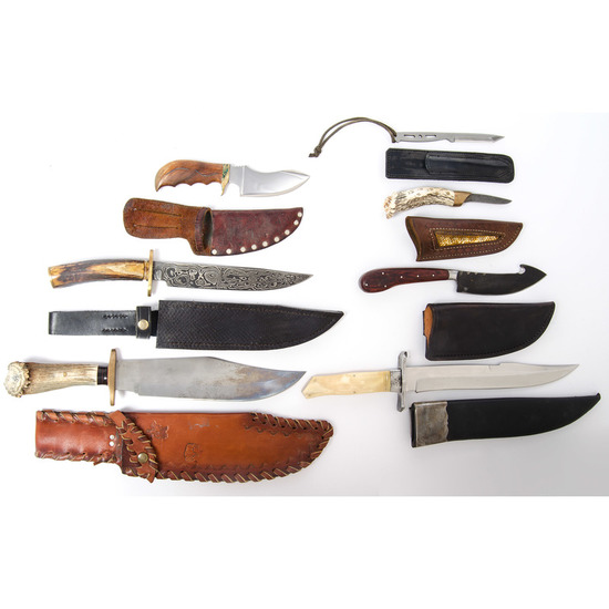 Assorted Bowie Knives