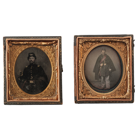 Civil War Daguerreotype and Tintype of an Officer of the 7th New York Infantry Regiment