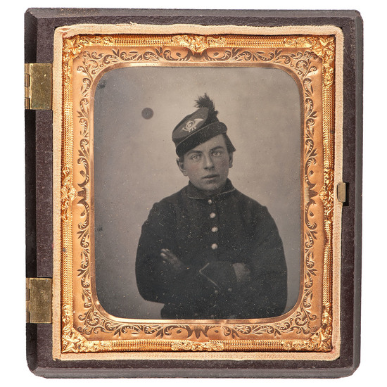 Sixth Plate Tintype of a Young Union Soldier