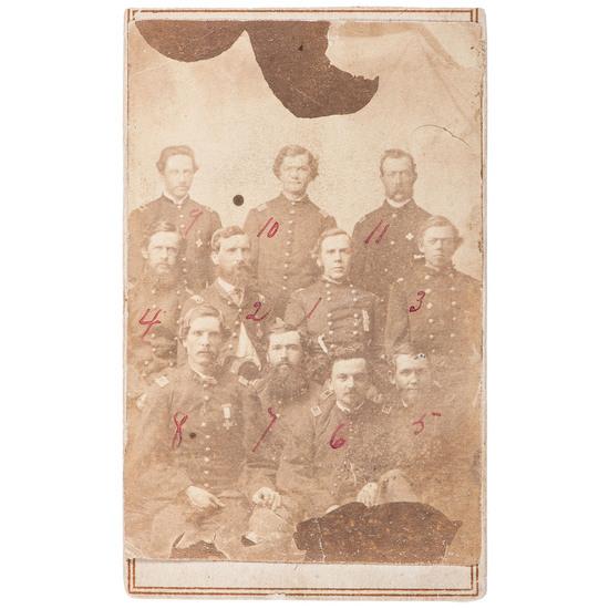 Major General George W. Getty and Sixth Army Corps Staff CDV Portrait