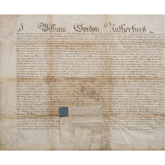 The Last Testament of Wm G. Rutherford Mentioning His Lloyd's £100 Sword Won for Action at Trafalgar