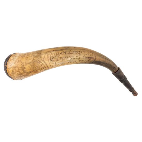 Johan Christoph Engraved Horn Dated Sept 2, 1780