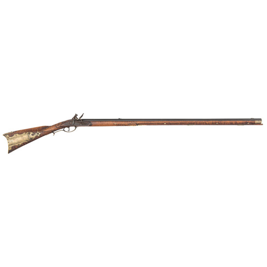 Raised Carved Kentucky Rifle By George Schreyer
