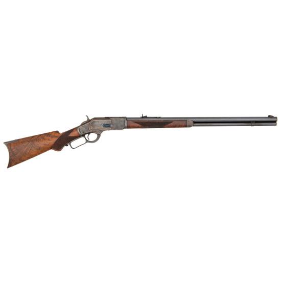 A Fine Deluxe Case Colored Winchester Model 1873 Sporting Rifle