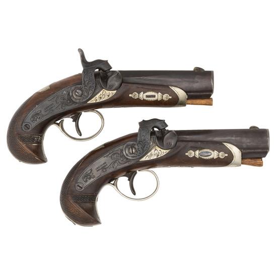 Pair of Percussion Deringer Pistols
