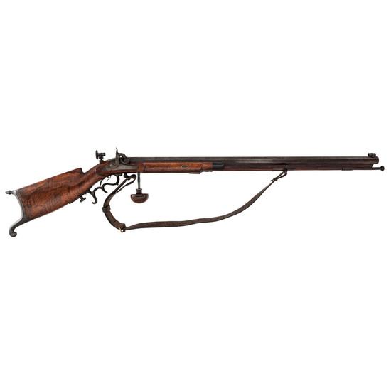 Swiss Schuetzen-style Percussion Rifle, .41cal
