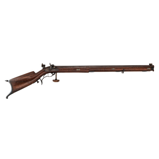Girard Schuetzen-style Percussion Rifle, .38cal