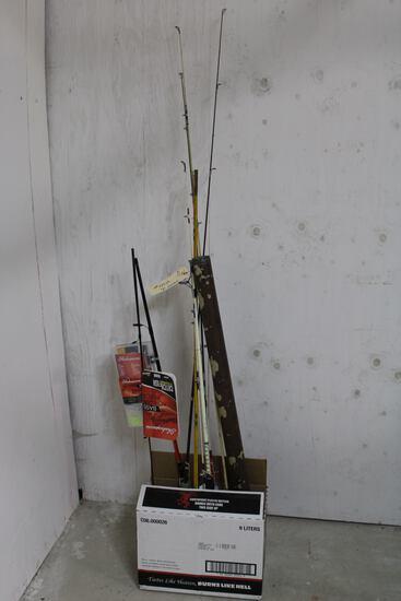 7 fishing poles