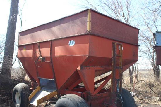 J&M gravity wagon, 350 bu, hd gears, extend tongue