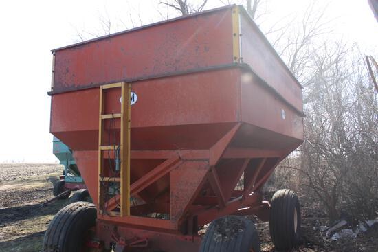 J&M gravity wagon, 350bu, hd gears, extend tongue