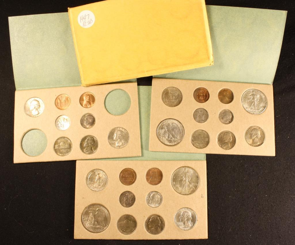 1947 US Mint UNC Set (P, D, S)