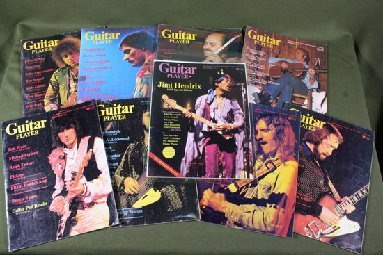 "(9) Vintage ""Guitar Player"" magazines 1975/76."