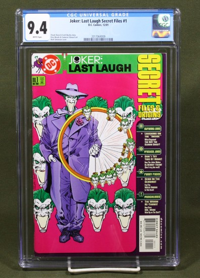 Joker: Last Laugh Secret Files #1 CGC 9.4