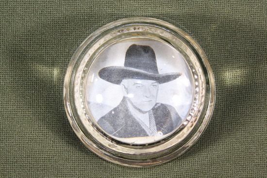 Antique Hopalong Cassidy Glass Paperweight