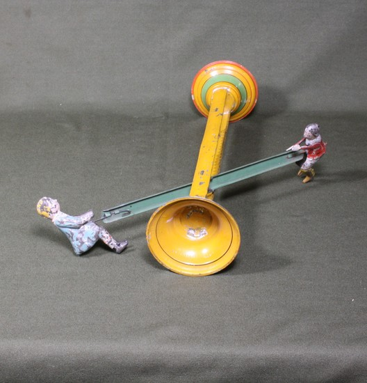Antique Gibbs Never Stop See-Saw toy.