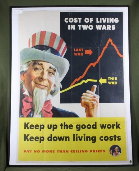 WWII 1944 propaganda poster