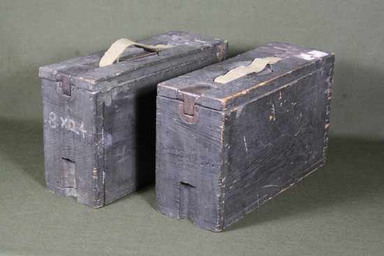 (2) WWI/II M1917 machine gun ammo boxes