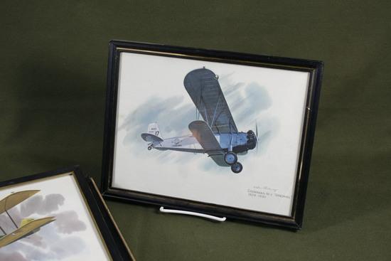 (6) 1970's Nixon Galloway Airplane prints.