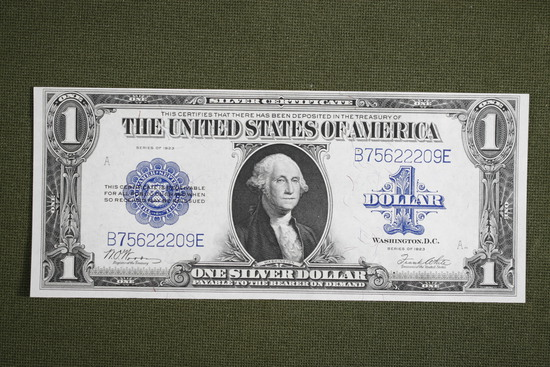 1923 Large Size US Silver Certificate