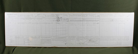 Large Civil War muster out roll