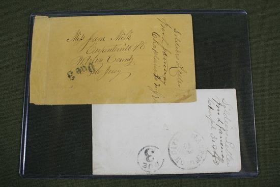 (2) Civil war Union soldier's mailed envelopes