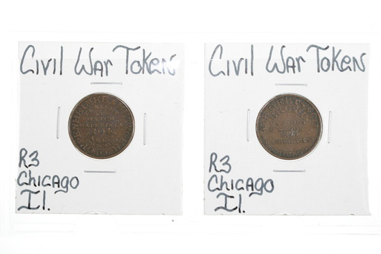 (2) Obscure Civil War Tokens