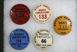 (4) 1930's Madison Square Garden rodeo buttons