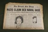 WWII German Newspaper Headline Lot (5)