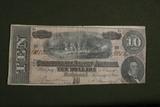 1864 $10.00 Richmond Confederate Note