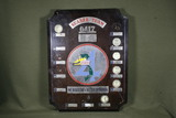 Vietnam War 0417 Seabee Team plaque.  1971-72.