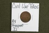 Obscure Freeport, Ill Civil War Token