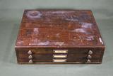 Antique Optometrist Parts Cabinet