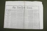 Lincoln Assassination 4/22/1865 Newspaper