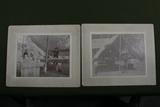 "(2) Late 1800's U.S. Army camp photos – 5 ½"" x 6 ¼""."