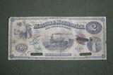 """1867 """"Macon & Brunswick RR Co."""" $2.00 note"""