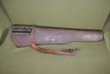 WWII M1 Garand leather rifle scabbard.