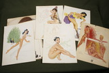 (30) 1940's pin-up girl calendar pages.